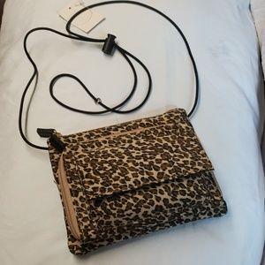 Handbags - Leopard crossbody purse handbag organizer satchel